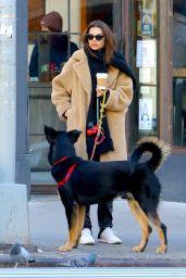 Emily Ratajkowski - Walks Her Dog in NY 01/29/2020