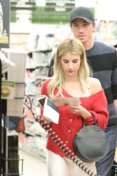 Emma Roberts - Grocery Shopping in Santa Monica 01/11/2020