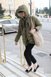 Emma Stone in Travel Outfit - Arriving at Athens International Airport 01/27/2020