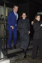 Emma Watson Night Out Style - Leaving C Restaurant in London 01/30/2020