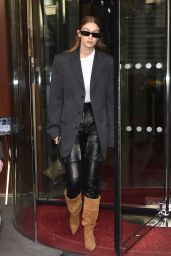 Gigi Hadid is Stylish - Leaving the Royal Monceau Hotel in Paris 01/20/2020