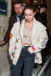 Gigi Hadid – Leaving the Jean-Paul Gaultier Show in Paris 01/22/2020