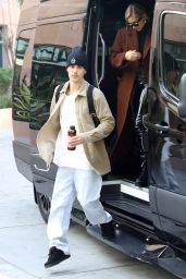 Hailey Rhode Bieber and Justin Bieber - Arrive for a Business Meeting in Santa Monica 01/14/2020