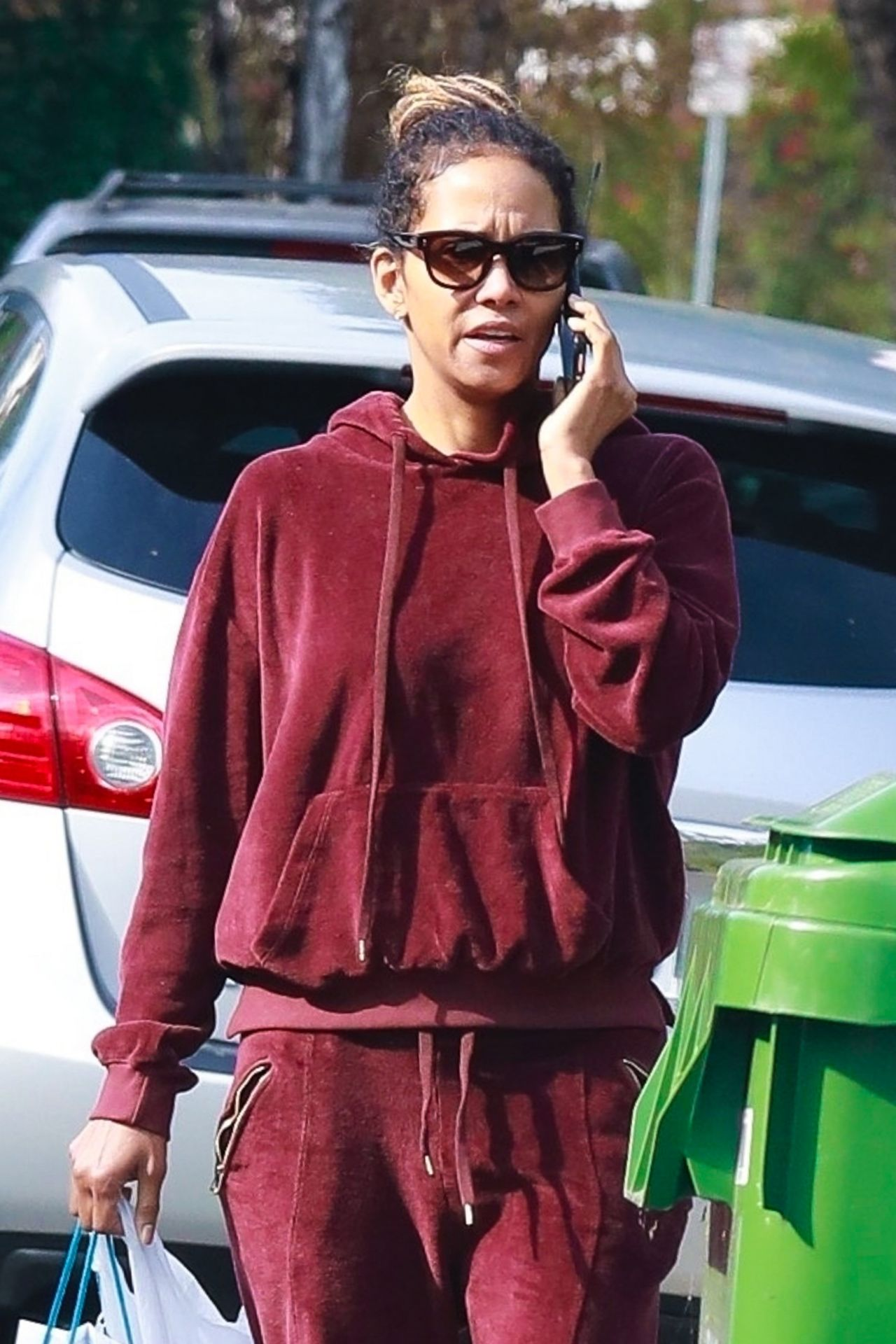 Halle Berry in Tracksuit 01/17/2020 • CelebMafia