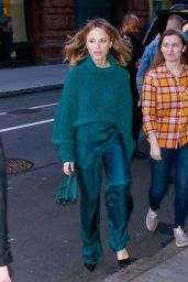 Halston Sage - Outside BUILD Series in NYC 01/15/2020
