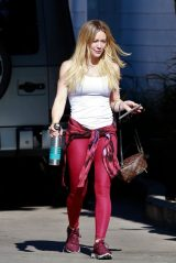 Hilary Duff in Spandex - Los Angeles 01/28/2020