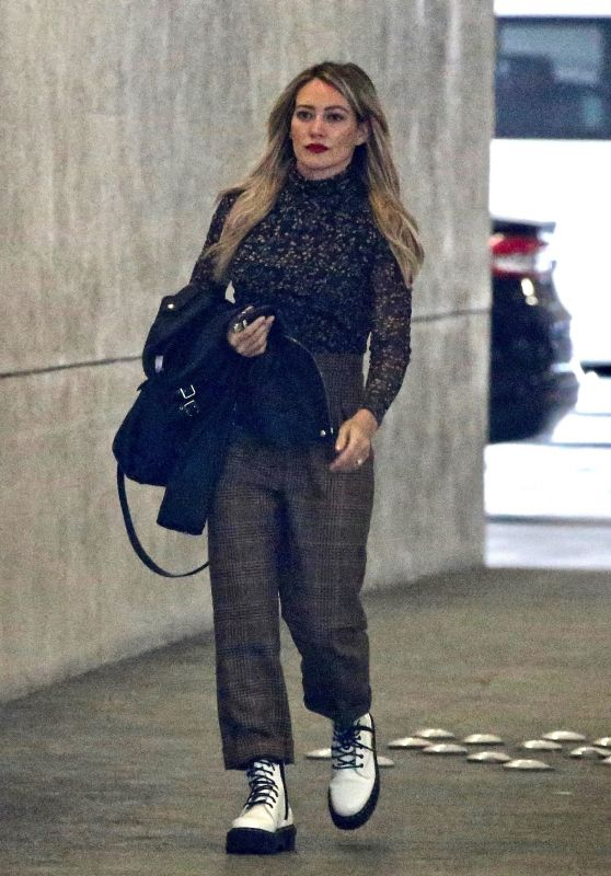 Hilary Duff - Leaving an Office Building in Burbank 01/16/2020