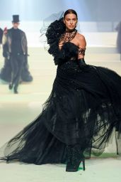 Irina Shayk – Walks Jean-Paul Gaultier Fashion Show in Paris 01/22/2020