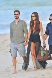Izabel Goulart and Kevin Trapp Walk the Beach in St Barth 12/31/2019