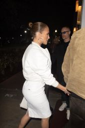 Jennifer Lopez in All-White - South Beach 01/24/2020