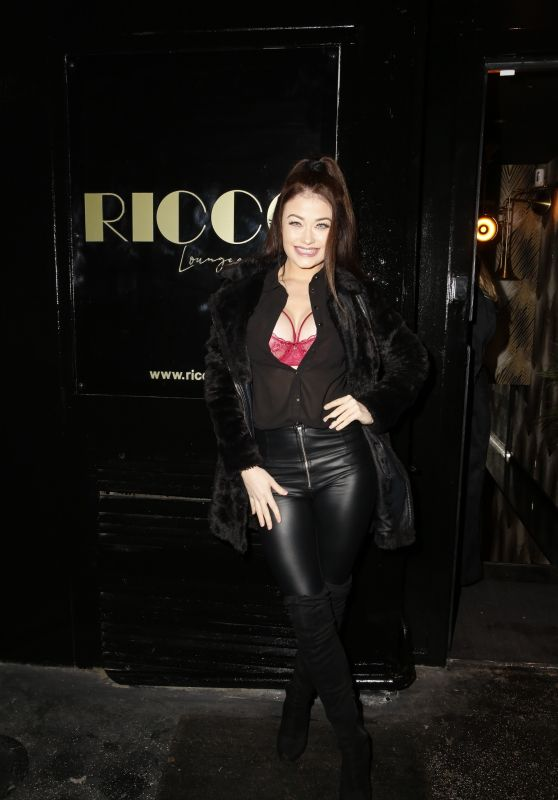 Jess Impiazzi - Outside the Ricco Lounge and Club Launch Party 01/30/2020