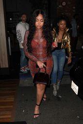 Jordyn Woods in Snakeskin - Partying at Avenue Night Club in Hollywood 01/24/2020
