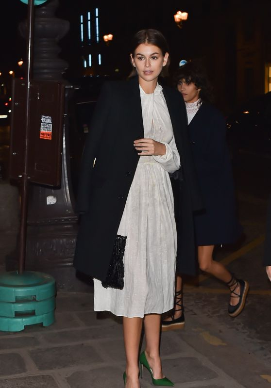 Kaia Gerber - Arrives at the Prada Dinner Party in Paris 01/19/2020