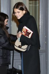 Kaia Gerber - Arriving at Valentino Fitting During Paris Fashion Week 01/20/2020
