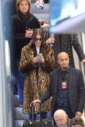 Kaia Gerber - Arriving in Paris 01/18/2020