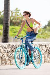 Kaia Gerber Beach Bike Ride - Miami 01/13/2020