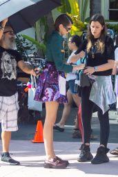 Kaia Gerber Cute Street Style - Miami Beach Photoshoot 13/01/2020