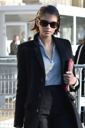 Kaia Gerber Looking Stylish - Arrives at the Chanel Fashion Show in Paris 01/21/2020
