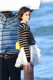 Kaia Gerber - Louis Vuitton Photoshoot Set in Miami 01/14/2020