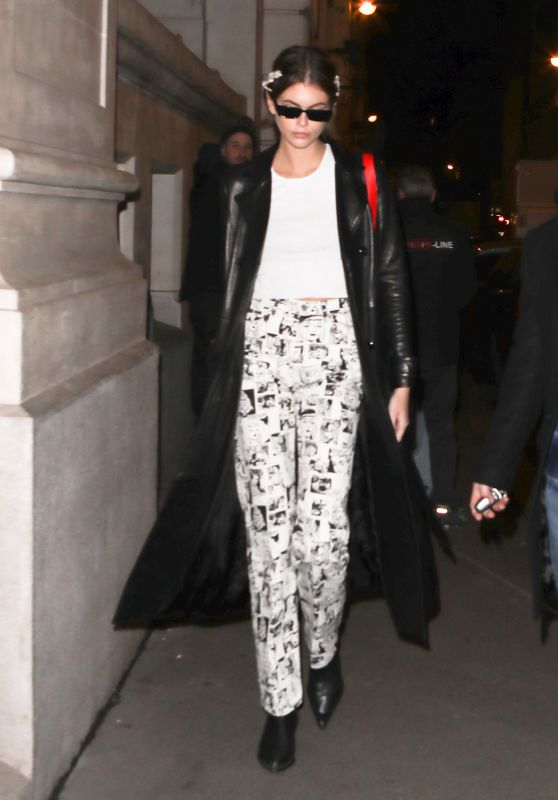 Kaia Gerber - Outside the 1017 Alyx GSM Show in Paris 01/19/2020