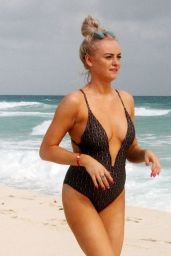 Katie McGlynn in a Swimsuit on the Beach in Mexico 01/22/2020