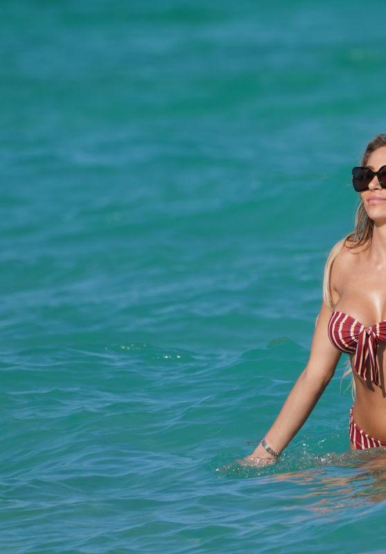 Khloe Terae in a Bikini - Beach in Miami 01/28/2020