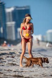 Kimberley Garner in a Red Bikini 01/14/2020