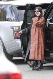 Kourtney Kardashian - Arrives at Kris Jenner