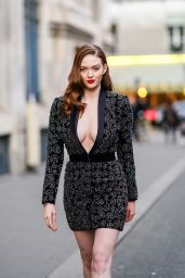 Larsen Thompson - Outside Ralph and Russo Fashion Show in Paris 01/20/2020