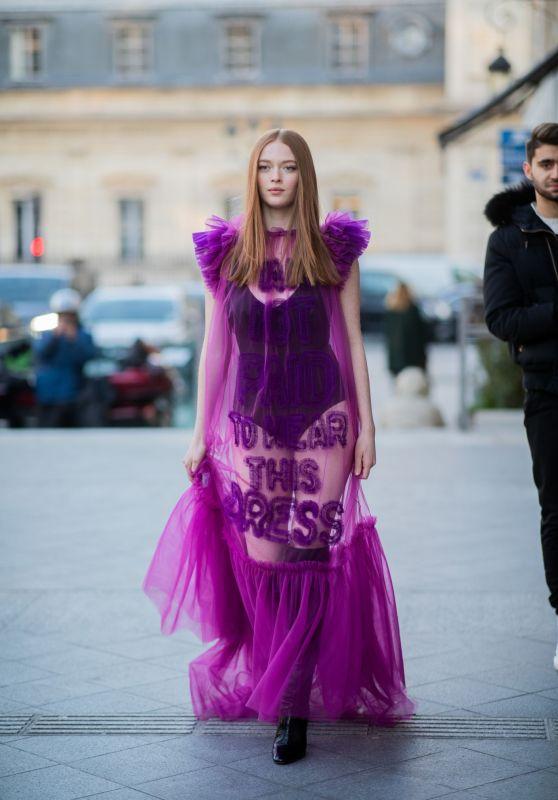 Larsen Thompson - Outside Viktor and Rolf Fashion Show in Paris 01/22/2020