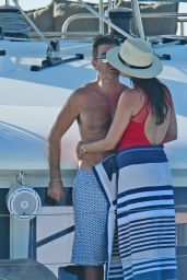 Lauren Silverman in a Swimsuit on a Catamaran in Barbados 01/03/2020