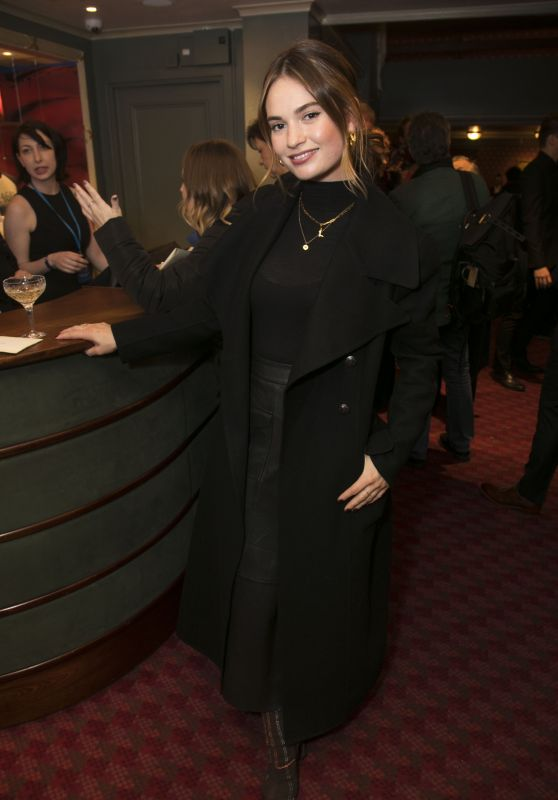"Lily James - Re-Opening of ""Les Miserables"" After Party in London 01/16/2020"