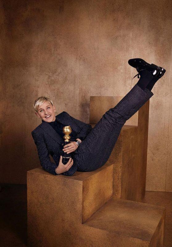 llen DeGeneres - Golden Globes 2020 Official Portrait