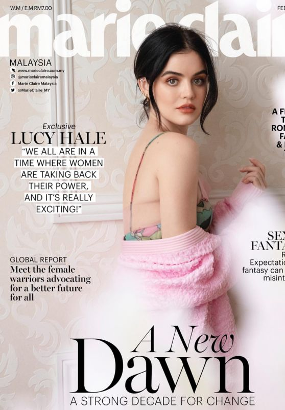 Lucy Hale - Marie Claire Magazine Malaysia February 2020