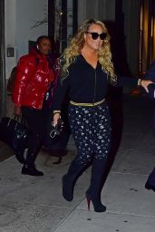 Mariah Carey Night Out Style - NYC 01/14/2020