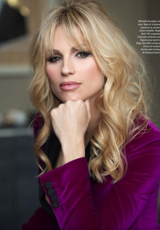 Michelle Hunziker – F. Magazine 01/07/2020 Issue