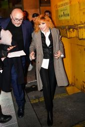 Mylene Farmer - Outside the Jean-Paul Gaultier Show in Paris 01/22/2020