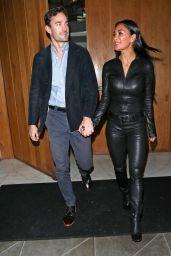 Nicole Scherzinger in a Leather Catsuit - London 01/29/2020