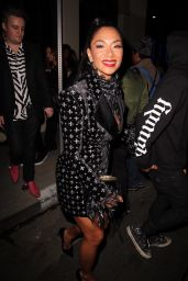 Nicole Scherzinger - Leaving the Warner Music Grammy Pre-Party in Hollywood 01/23/2020