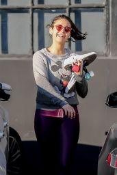 Nina Dobrev - Leaving the Gym in West Hollywood 01/11/2020