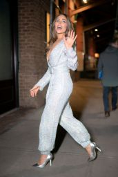 Olivia Culpo in Jumpsuit - New York City 01/23/2020