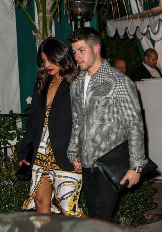 Priyanka Chopra and Nick Jonas - Leaving San Vicente Bungalows in West Hollywood 01/07/2020