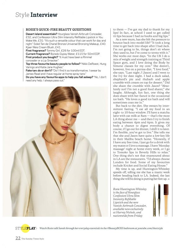 Rosie Huntington-Whiteley Outfit – STYLE Magazine 01/19/2020 (Part VI)