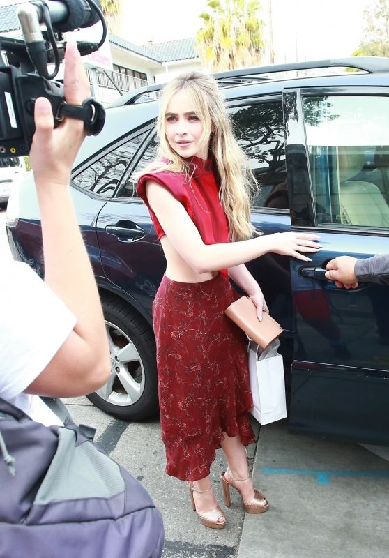 Sabrina Carpenter - Leaving Women in Harmony Luncheon in West Hollywood 01/24/2020