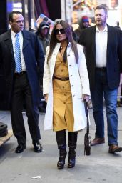 Salma Hayek - Arriving at GMA Studios in NYC 01/07/2020