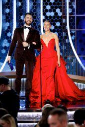 Scarlett Johansson and Chris Evans Onstage - 77th Annual Golden Globe Awards 01/05/2020