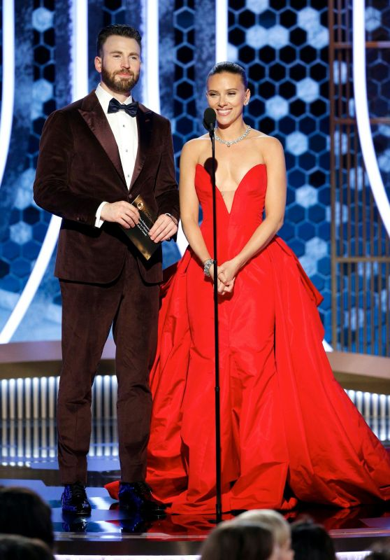 Scarlett Johansson and Chris Evans Onstage - 77th Annual Golden Globe Awards 01/05/2020