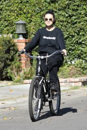 Selena Gomez - Riding Her Bike in Studio City 01/24/2020