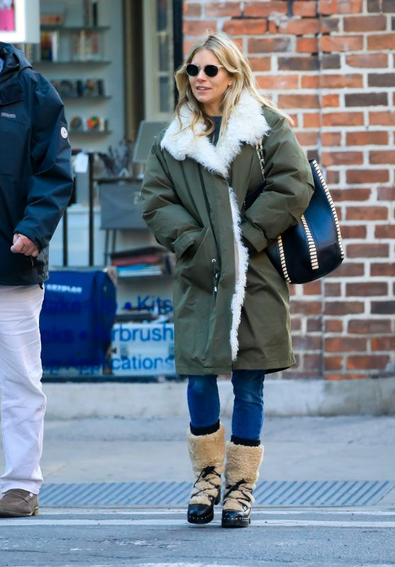 Sienna Miller - Out in New York 01/21/2020