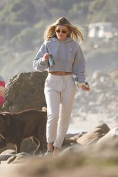 Sofia Richie in Casual Outfit - Walk on the Coast in Malibu 01/30/2020
